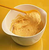 Cream-puff Paste in White Bowl