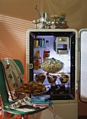 Party Dishes in an Old Refrigerator (Bosch)