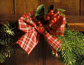 Christmas Decoration with Greens and Berries