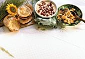 Quark Omelet; deep-fried Pastries & Bavarian Cream