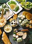 Butter Mixtures; Cream Cheese Balls; Buffet