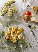 Stuffed Eggs, Avocados and Tomatoes
