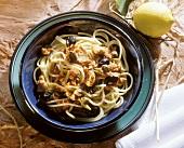 Spaghetti alla siciliana (spaghetti with tuna, Italy)