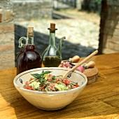 Panzanella (bread salad), Tuscany, Italy