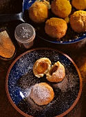 Wachau-Style Apricot Dumplings with powdered Sugar