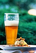 Bread Dumpling with Mushrooms and Beer