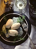 Pike Dumplings in Dill Cream