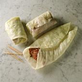 Preparing stuffed cabbage