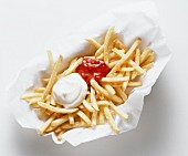 French Fries in a Paper Napkin