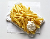 French Fries on Paper Plate
