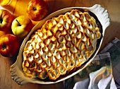 Austrian Apple Bake; Apple Souffle with stiffened Egg White