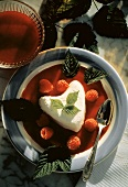 Coeur a' la Creme with Raspberries