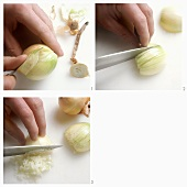 Peeling and dicing onions