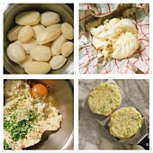 Potato cakes with chives