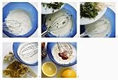 Salatsauce aus Milchprodukten (mit Kräutern oder Ingwer oder Ketchup)