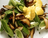 Leek Salad with Curry Hollandaise