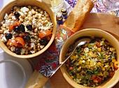 Lentil Salad & Chick-pea Salad