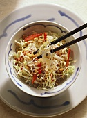 Chinese Noodle Salad with Sprouts & Seeds