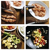 Preparing sweet and sour chicken breast