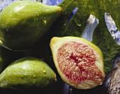 Fresh figs, cut open