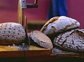 Coarse Rye Bread & Bread Slicer