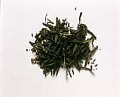 Green Japanese Tea Leaves