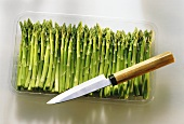 Green Mini Asparagus in Bowl