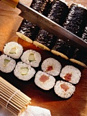 Rolled Sushi with Cucumber & Tuna