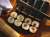Rolled Sushi with Tuna & Cucumber