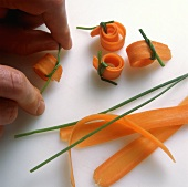 Shaping carrot rolls