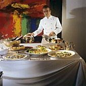 Buffet with chef; champagne breakfast