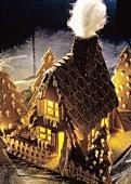 Illuminated Gingerbread House