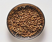 A bowl of chick peas
