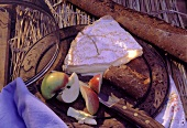 Camembert Cheese with Apple and Bread