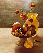 Fruit Still Life with Yellow Vase