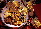 Crispy sweet pastry biscuits for Christmas