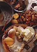 Baking Ingredients for Pecan Pie