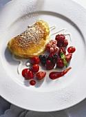 Small Quark Omelet; Summer Fruit