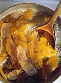 Preparing Candied Orange Peels