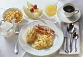 Scrambled Egg; Bacon; Orange Juice & Coffee 1