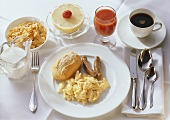 Scrambled Egg; Bratwurst; Tomato Juice & Coffee