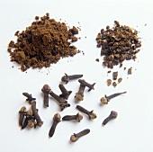 Cloves; ground Cloves; shredded Cloves