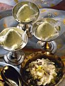Indian Icecream & Rice Pudding & Pistachio
