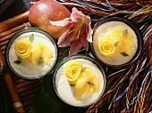Mango Mousse with Mango Wedges