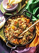 Caribbean Jambalaya with Sausage and Fruit