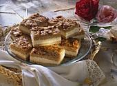 Bee-sting cake with mascarpone filling