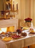 Cake buffet; Sacher torte; orange tart