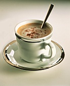 Capuccino; Cup with Silver Rim