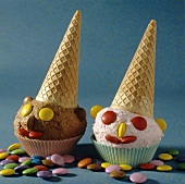 Ice Cream Cone Clowns with Candies