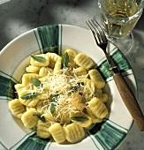 Gnocchi alla piemontese (potato dumplings with sage, Italy)